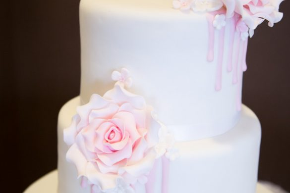 A classic pink and white wedding