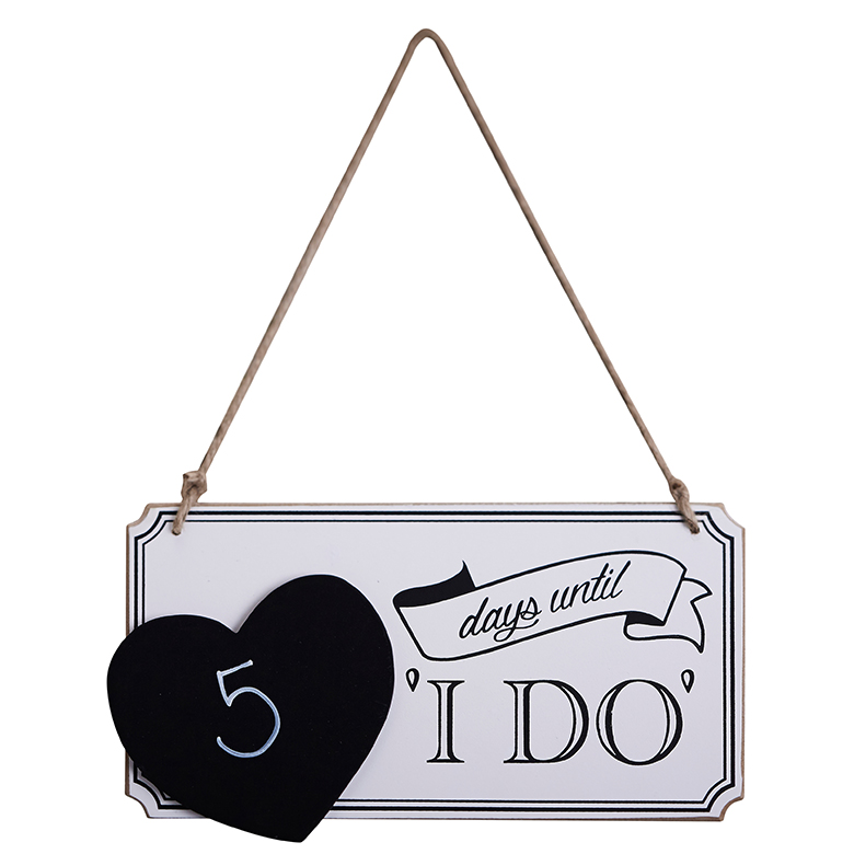 Ginger Ray Wooden Wedding Countdown Chalkboard Sign - Vintage Affair