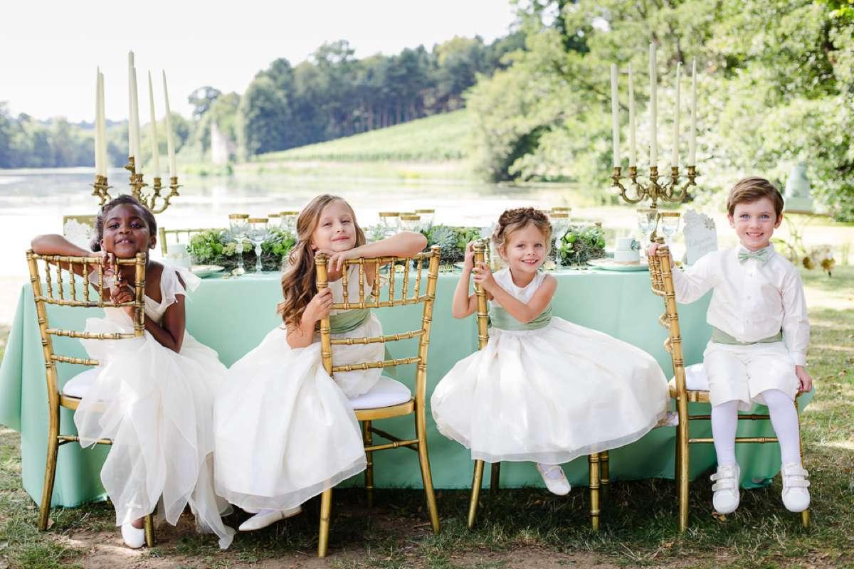 Flower girls at Little Bevan