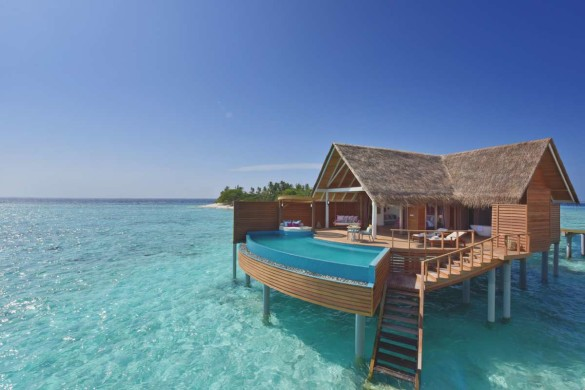 Maldives honeymoon resort