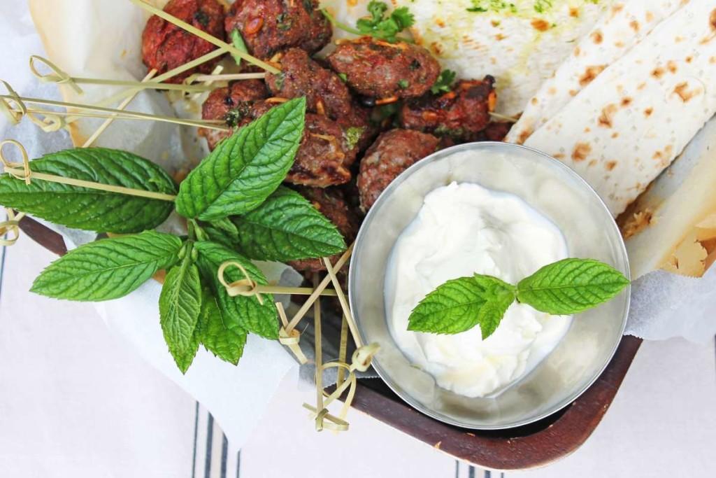 KempandKempcatering.co.uk Evening Food - Kebabs, falafel, hummus, tatziki and flatbreads