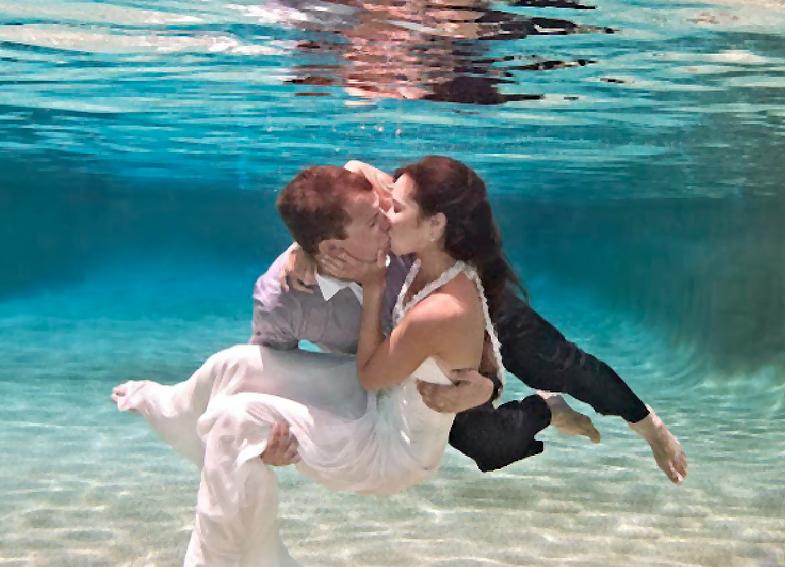 Undersea wedding