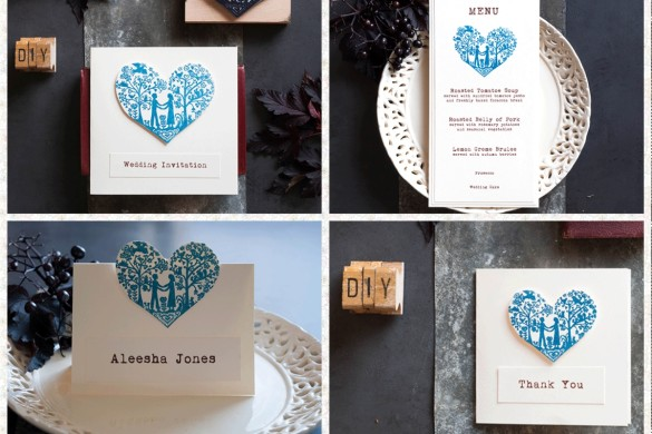 Simple DIY wedding stationery projects