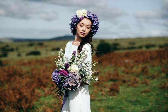 bohemian bridal photoshoot
