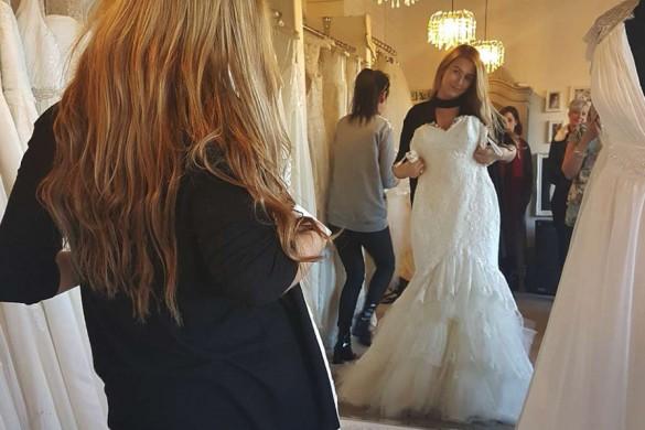 Francesca won her dream Modeca wedding dress