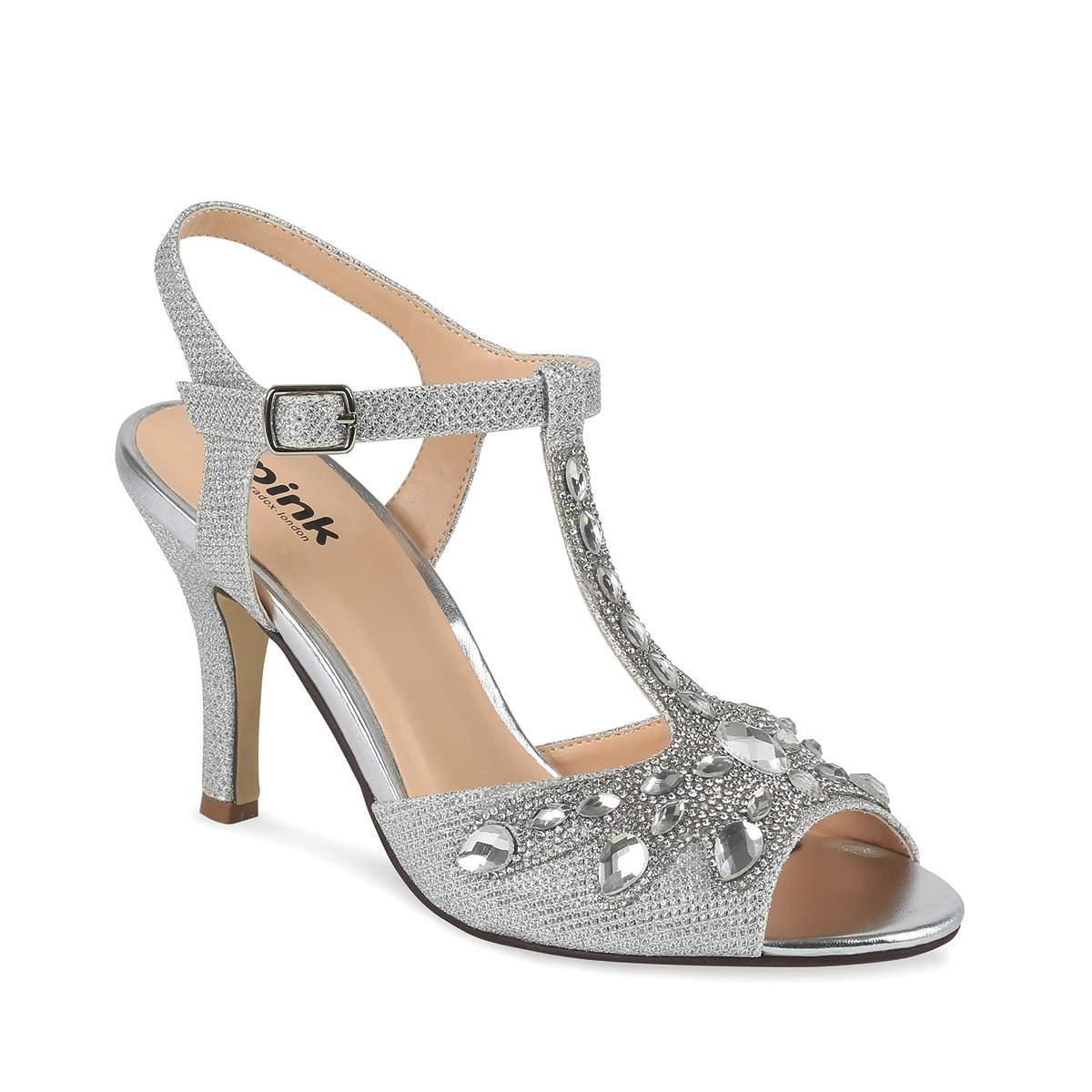 Metallic wedding shoes