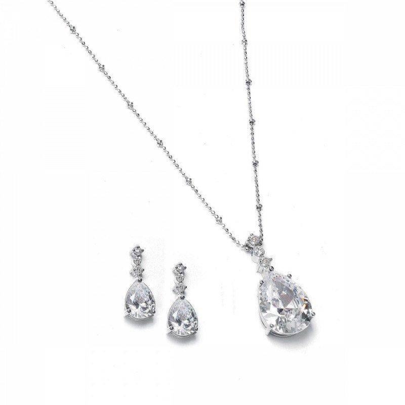 Bridal jewellery sets crystal-necklace-sets-elizabeth-crystal-necklace-set-39.99