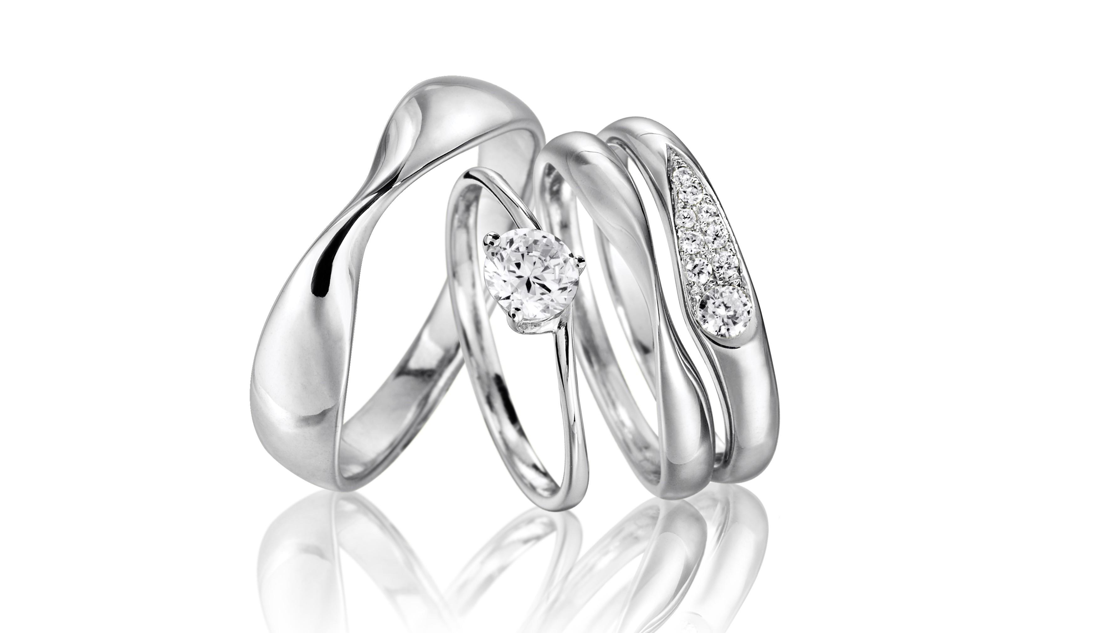 Delicate wedding rings from Fei Liu Fine Jewellery