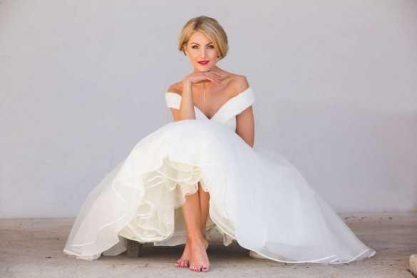 Off-the-shoulder wedding dresses