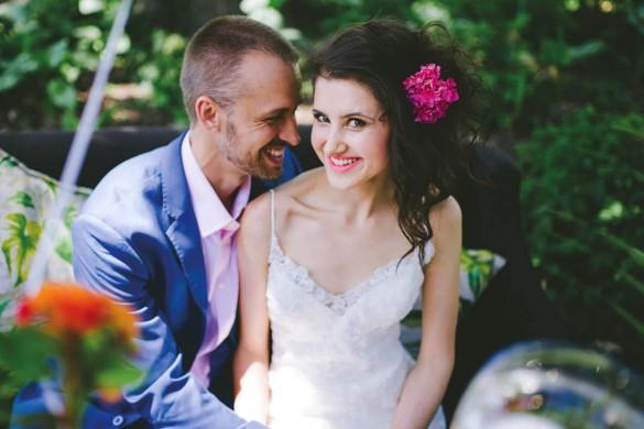 Tropical wedding shoot