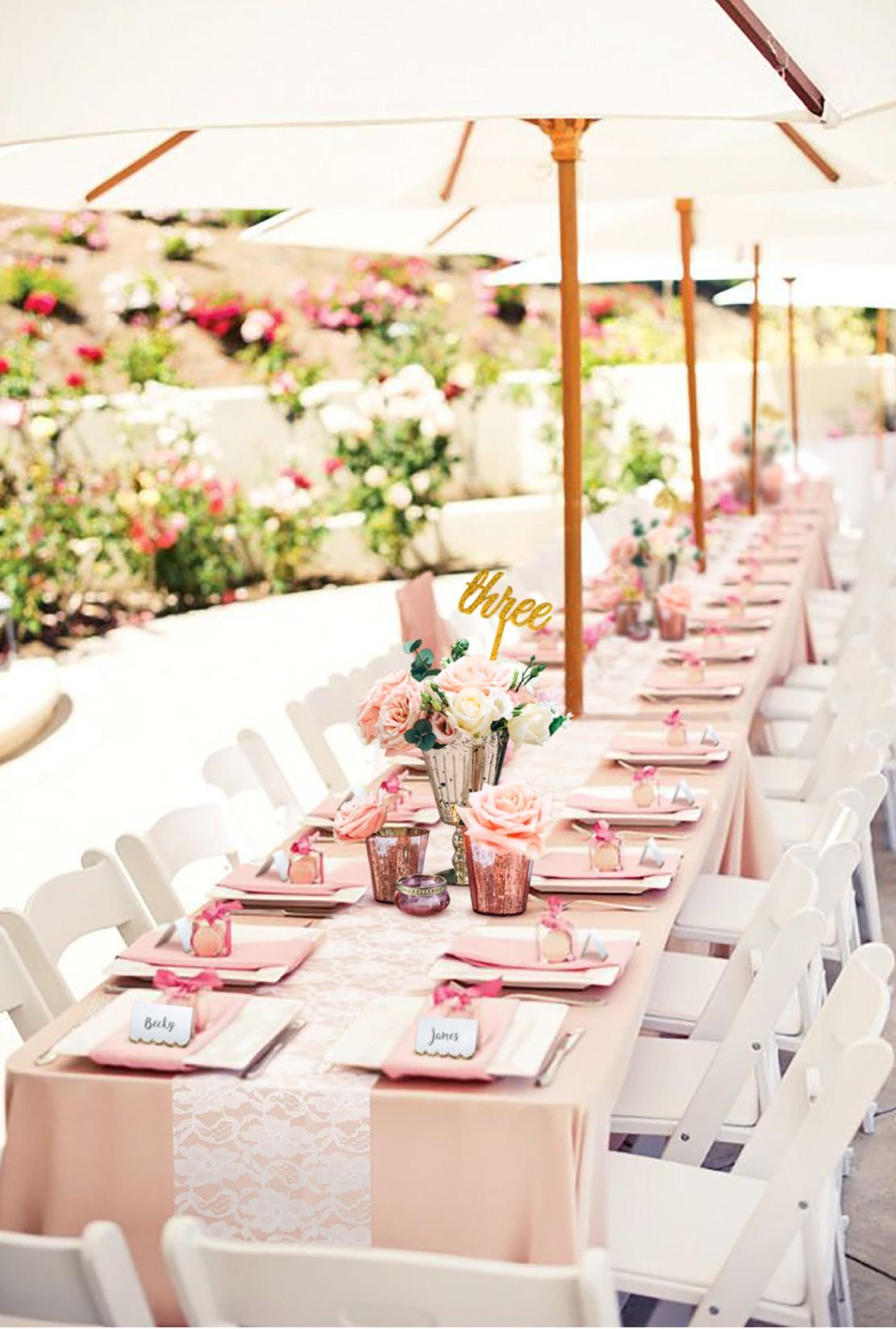 styleboxe Rose Pinks Wedding Table Decor