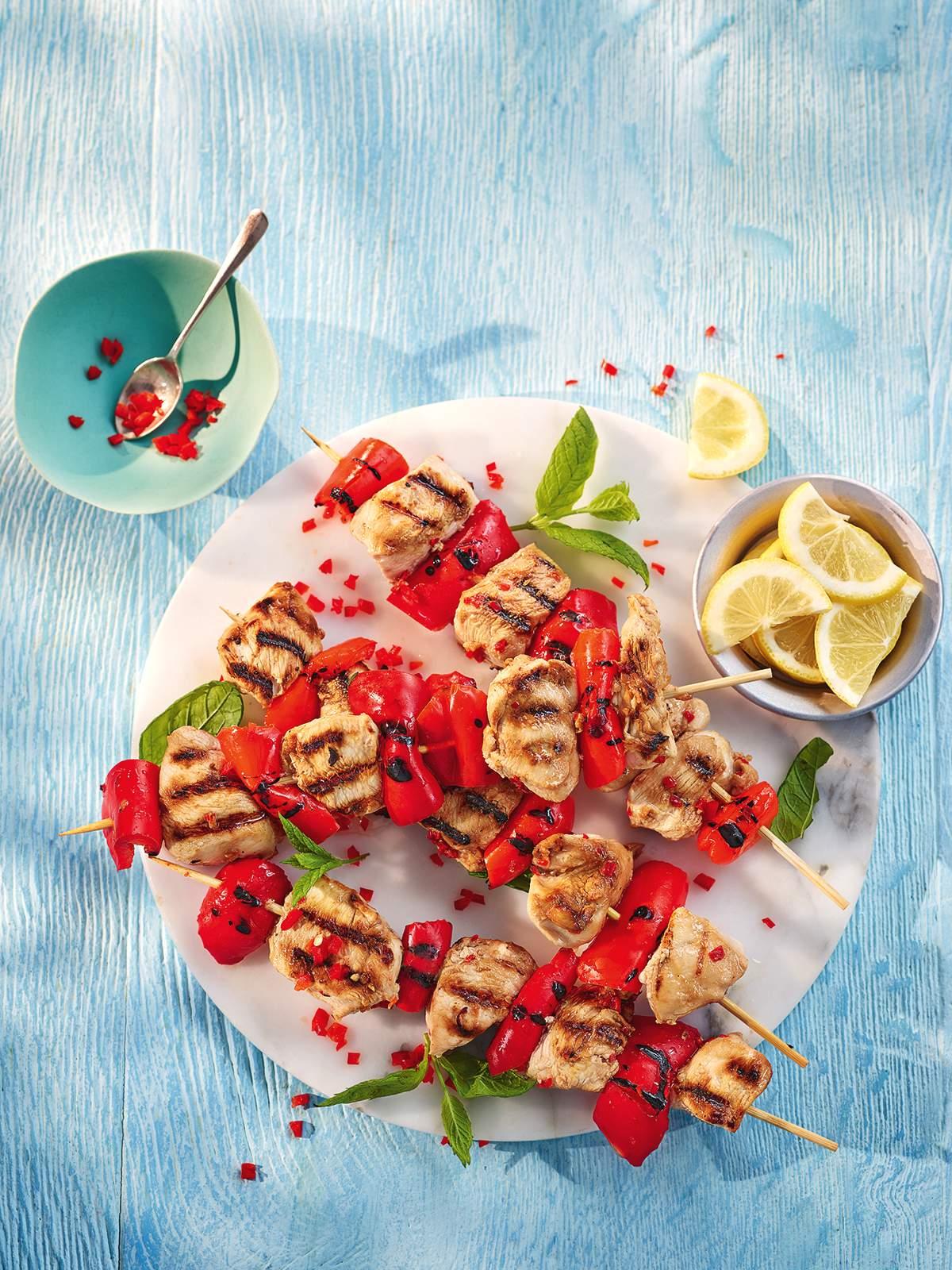 Sweet chilli chicken & pepper kebabs_LBBBQ
