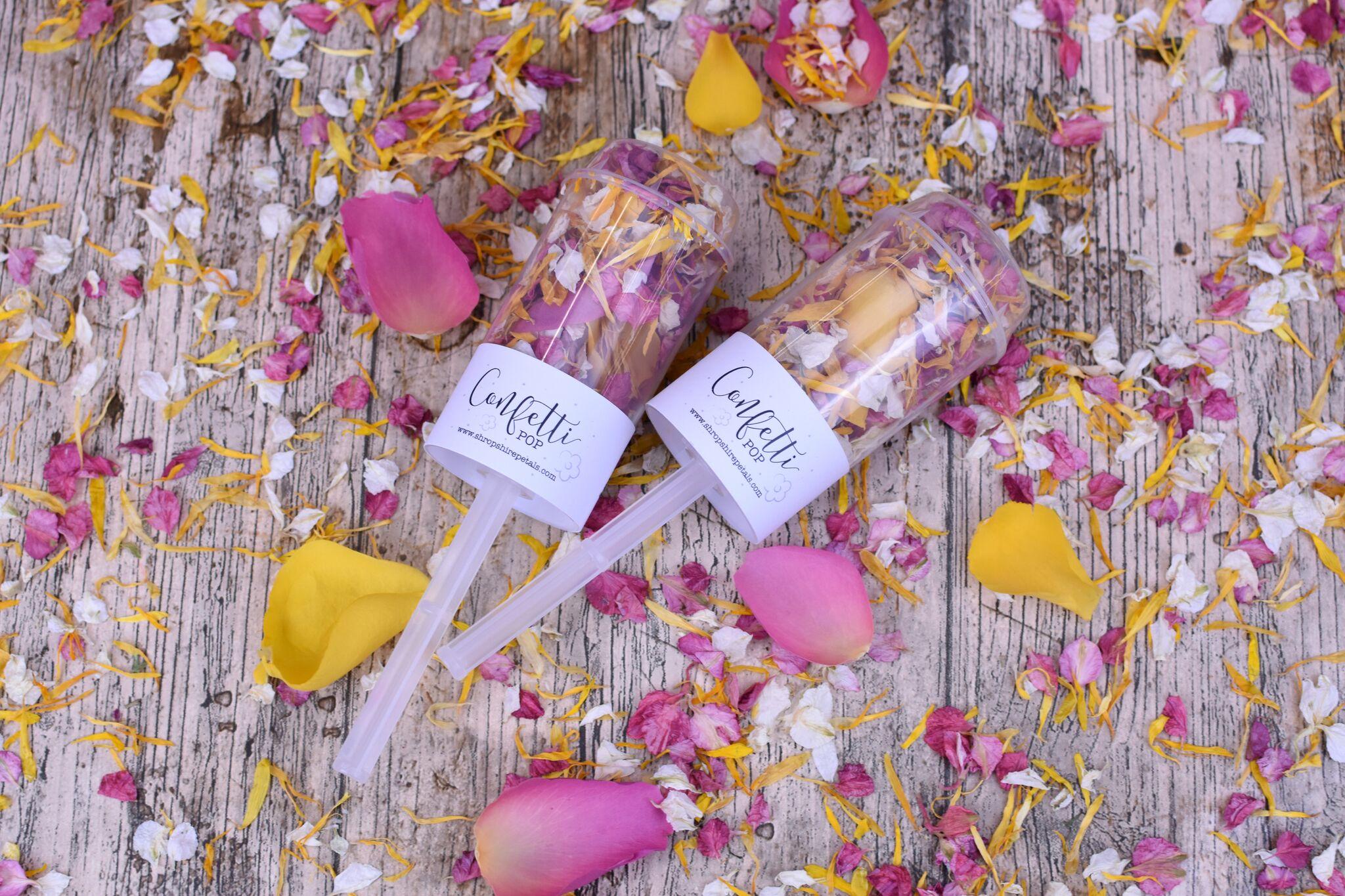 ShropshirePetals.com Confetti Pops with Icing Sugar