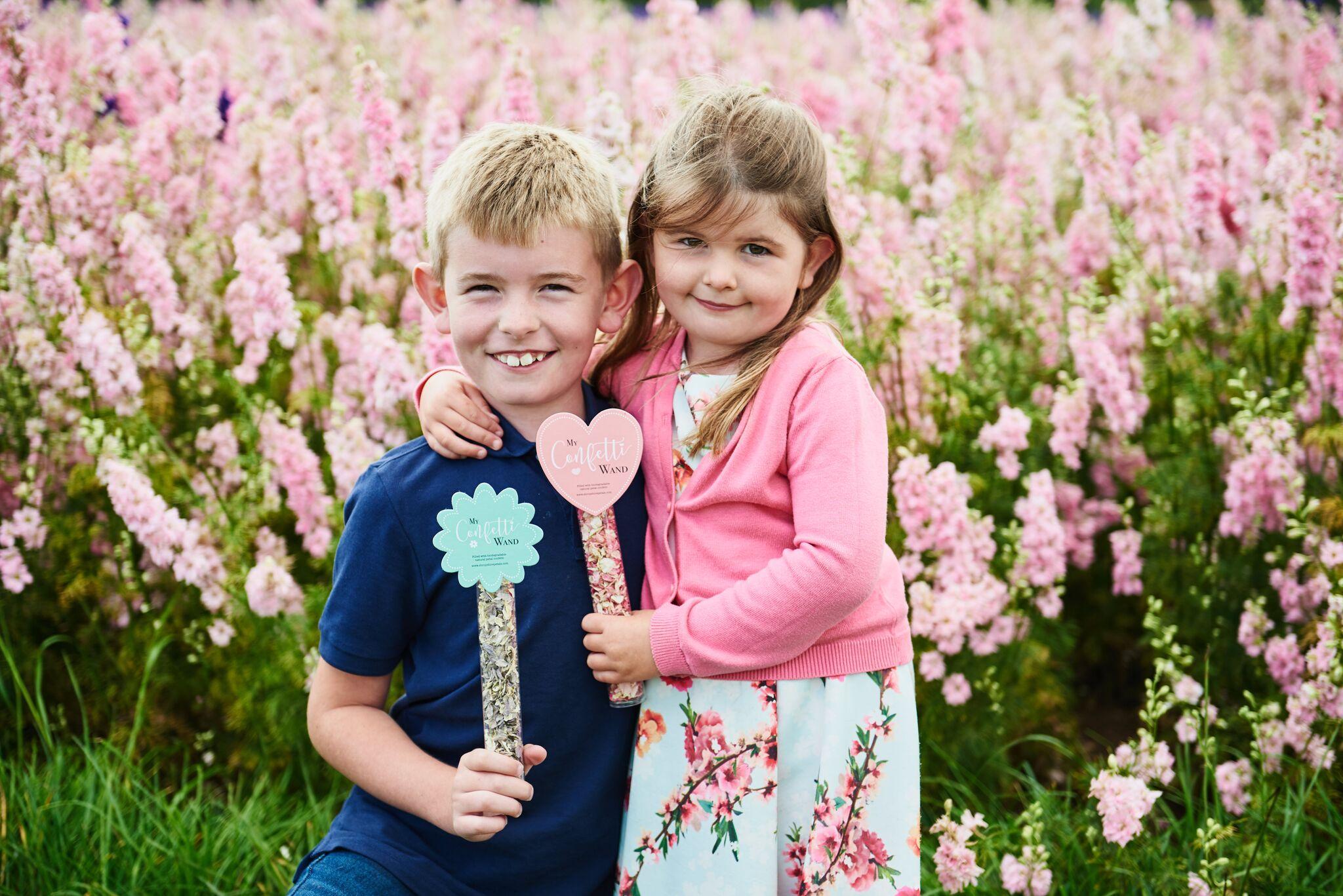 ShropshirePetals.com Heart and Flower Confetti Wands £3.50 each (2)