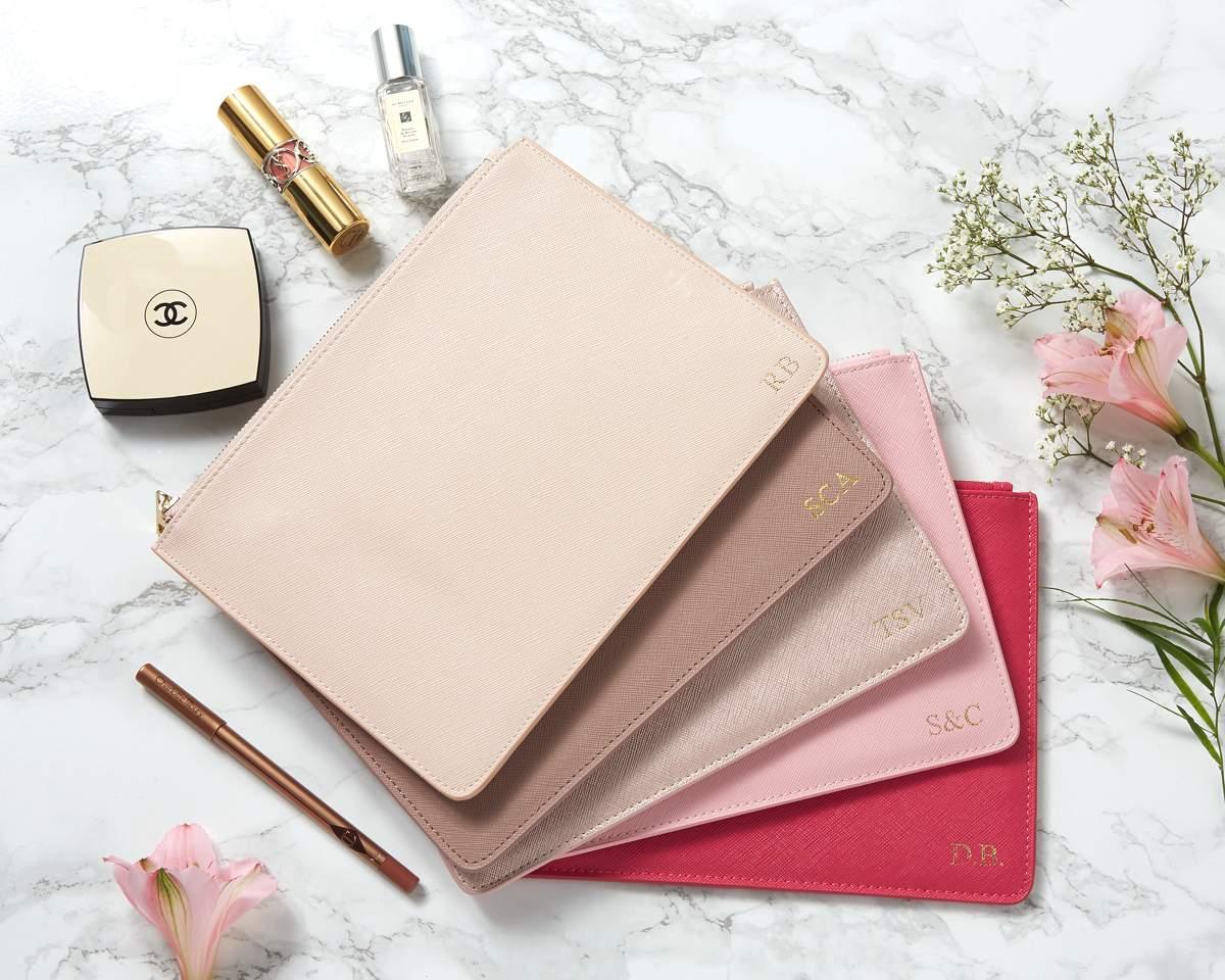 pink pouches flat