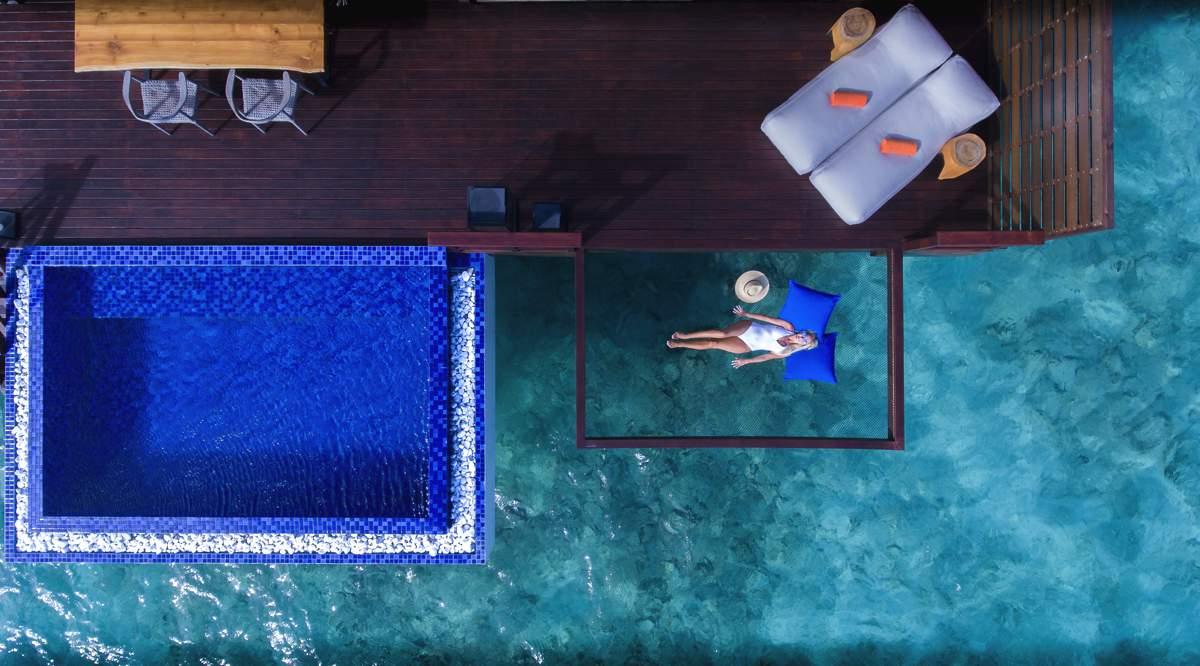 Hammock bliss at Pool Water Villa