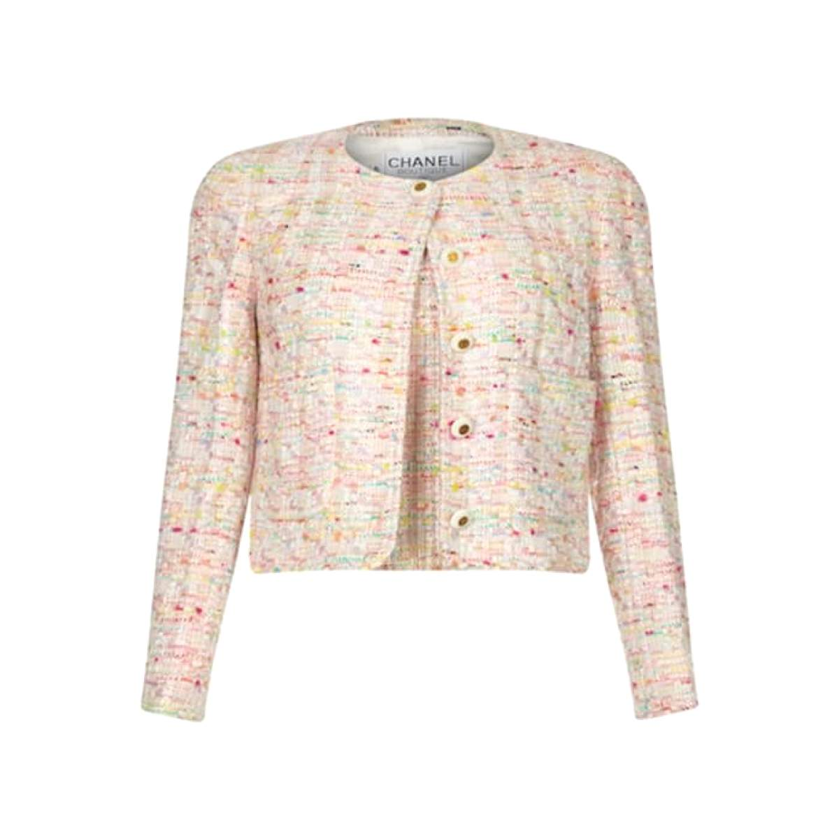 Chanel 1990s tweed set in pastel shades