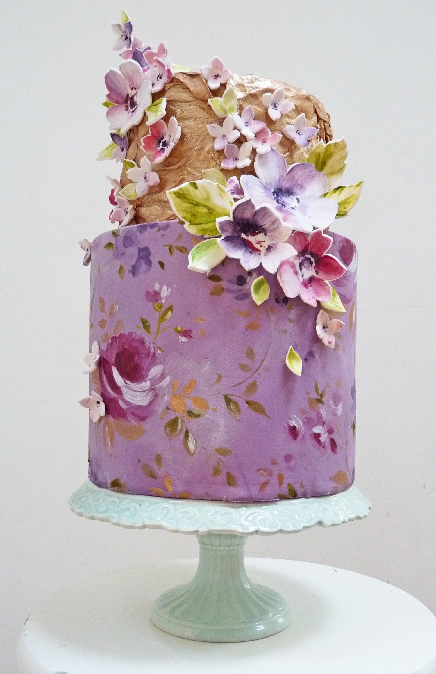 Watercolour Nevie-Pie Cakes plush gold