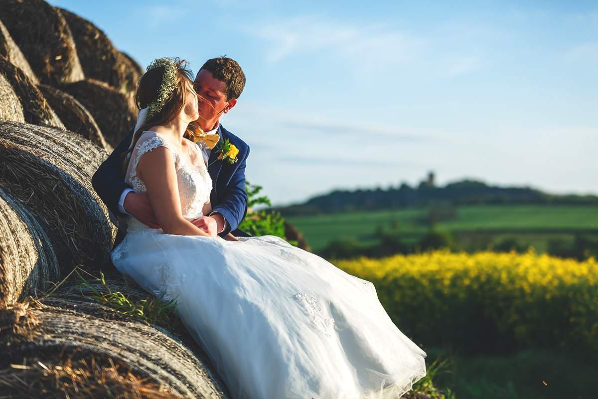 yellow real wedding