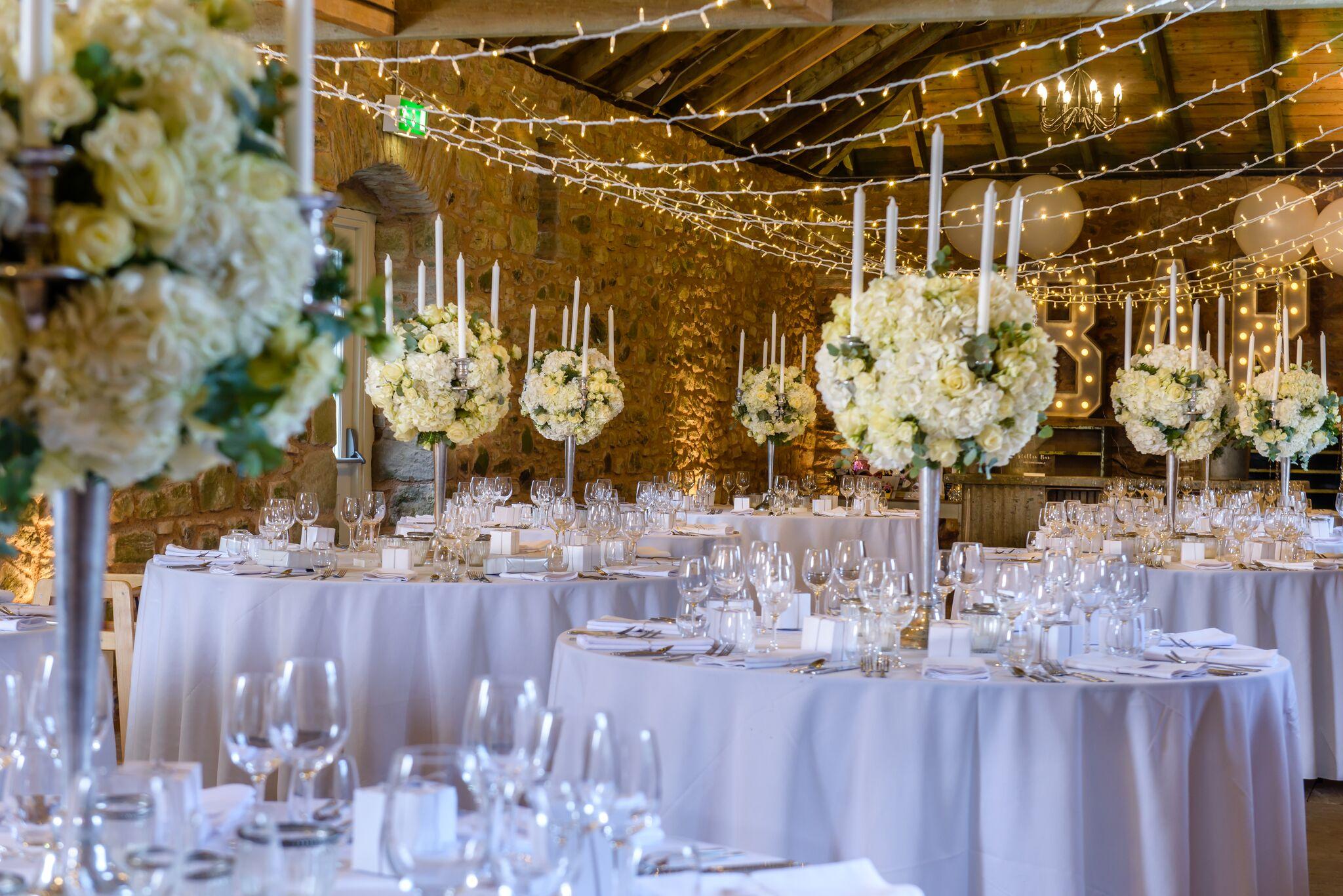 Get-Knotted.net Wedderburn Castle Barn wedding - Reception styling (image credit - kevingreenfield.com) (2)_preview