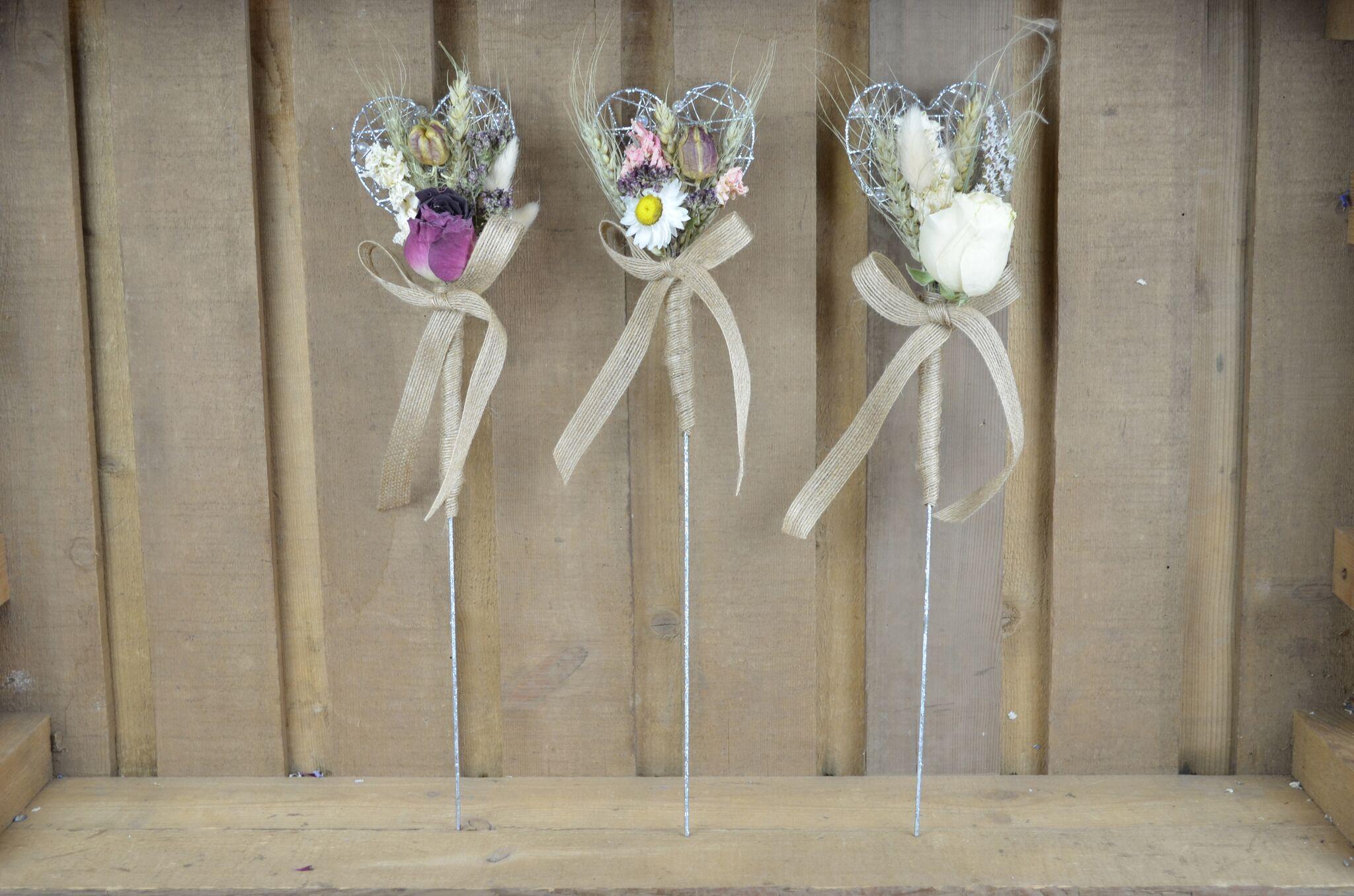 ShropshirePetals.com Burgundy, Country Garden and White Flower Girl Wands £9.50 each (2)_preview