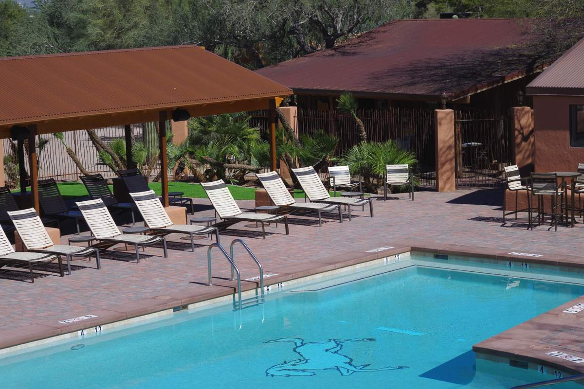 Whiet Stallion Guest Ranch, Arizona, recently renovated pool