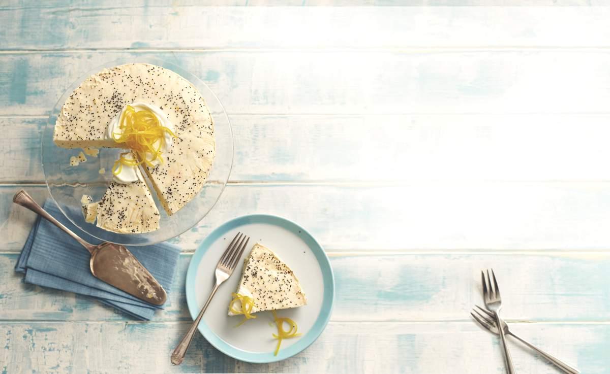 Lemon & Poppy Seed Ice Cream Cheesecake