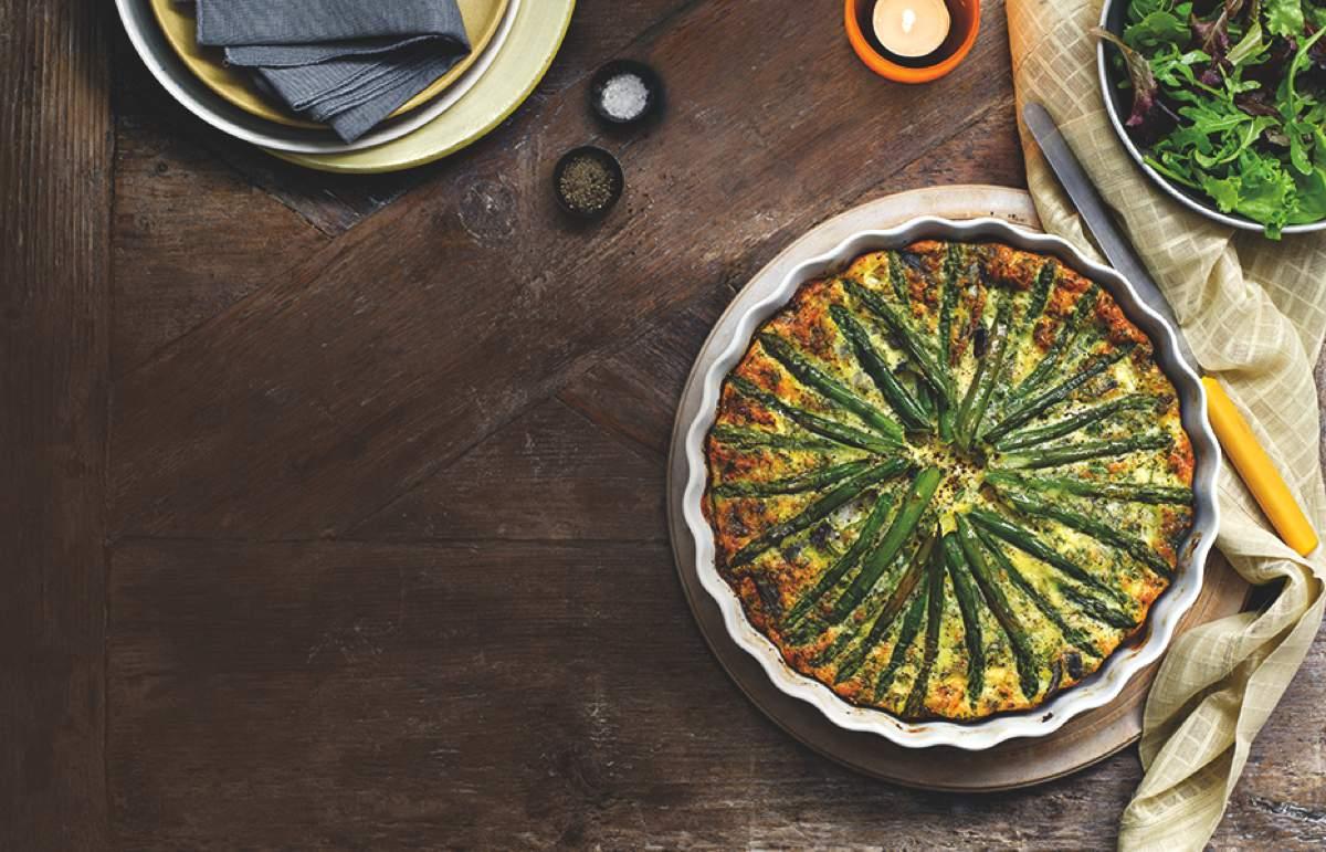 Asparagus & Red Onion Quiche