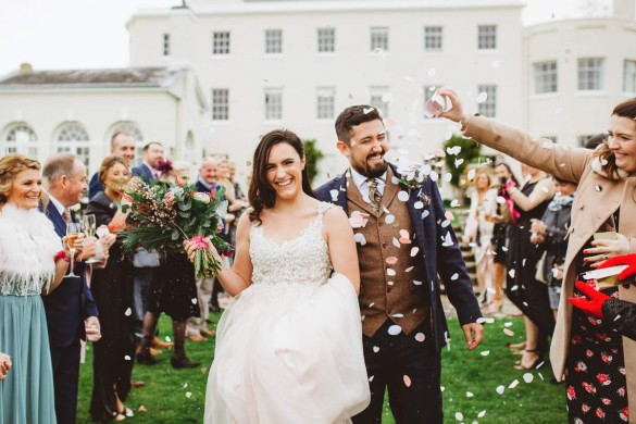 A white real wedding with wow!