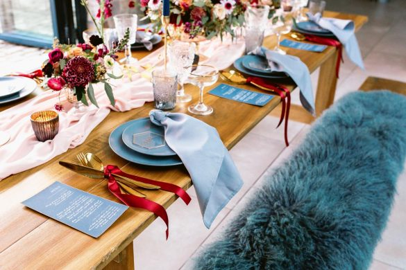 luxurious winter wedding