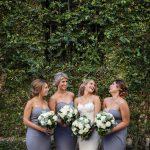 grey and gold wedding